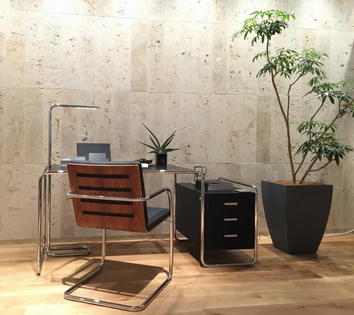 Thonet, S 285, Schreibtisch, S 60, Freischwinger, Home Offcie, Design, Klassiker, Bauhaus