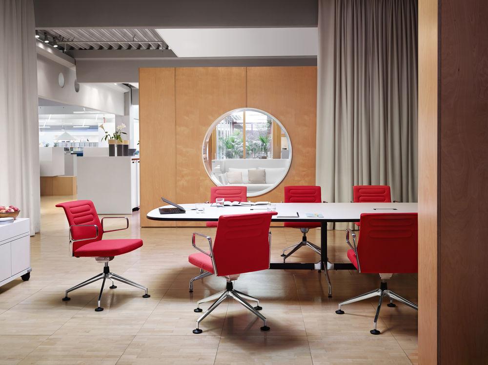 Vitra, Konferenz, Konferenzstuhl, Konferenztisch, Büro, Meeting, Bürokonzept, Konferenzraum, Besprechungstisch