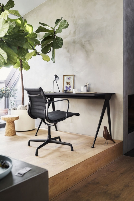 Vitra, Aluminium Chair, EA108, Black Version, Aluchair, Eames, Home Office, edel, schwarz, Design, Konferenzstuhl