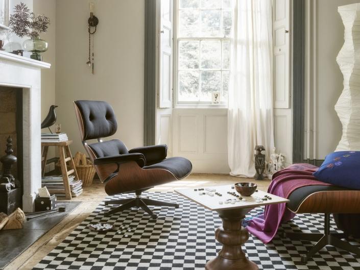Vitra, Eames, Lounge Chair, Lounge Sessel, Wohnzimmersessel, Ikone, Klassiker, Design, Designermöbel, Ledersessel, Wohnzimmer, Wohnzimmereinrichtung, Wohnzimmermöbel