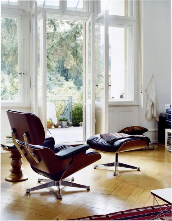 Vitra, Lounge Chair, Ottoman, Eames, Sessel, Ruhesessel, Leder, Ledersessel, Klassiker, Ikone, Design, Wohnzimmer, Möbel