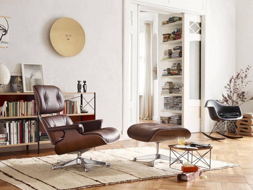 Vitra, Eames, Lounge Chair, Occasional Table LTR, Plastic Armchair RAR, Schaukelstuhl, Wohnzimmer, Wohnzimmersessel, Loungesessel, Wohnzimmereinrichtung, Möbel, Wohnzimmermöbel
