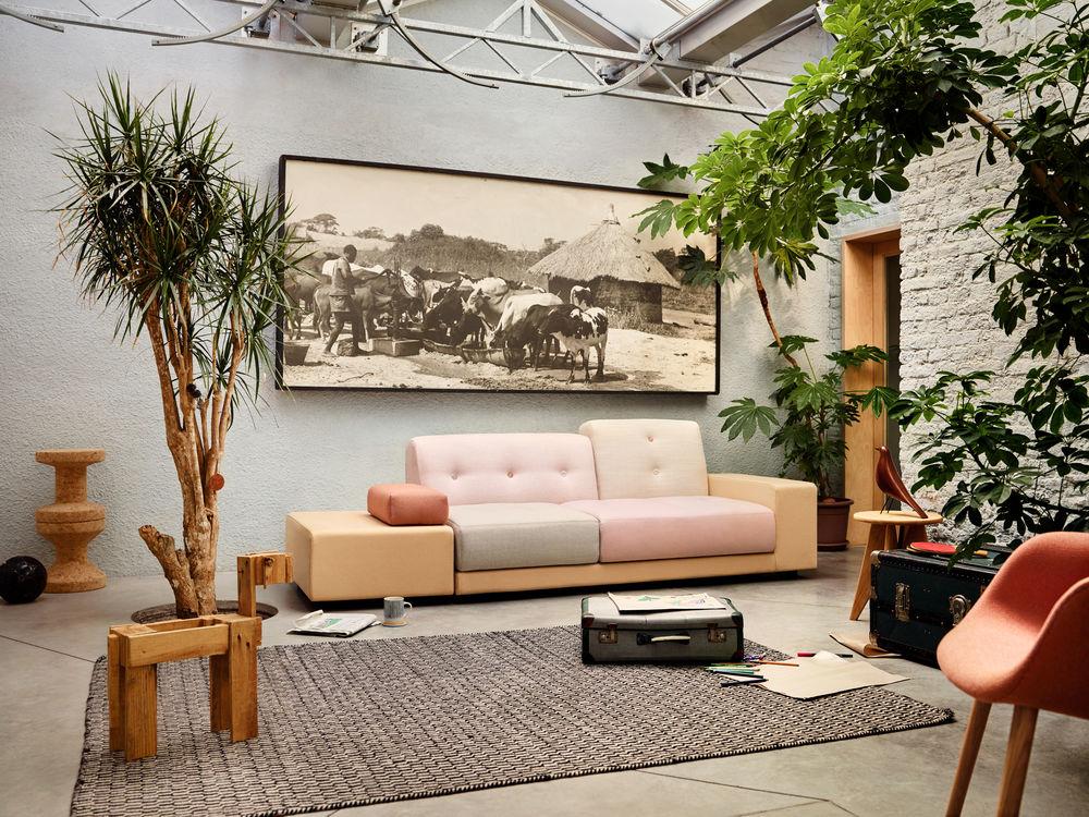 Vitra, Polder Pastel Sofa, bunt, Wohnzimmer, Möbel, Einrichtung, Hella Jongerius